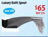 contemporary new Bath Spout features a luxurious water fall-style stream that washes you in luxury