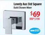 Luxury shower, bath, laundry or even wall basin mixer.