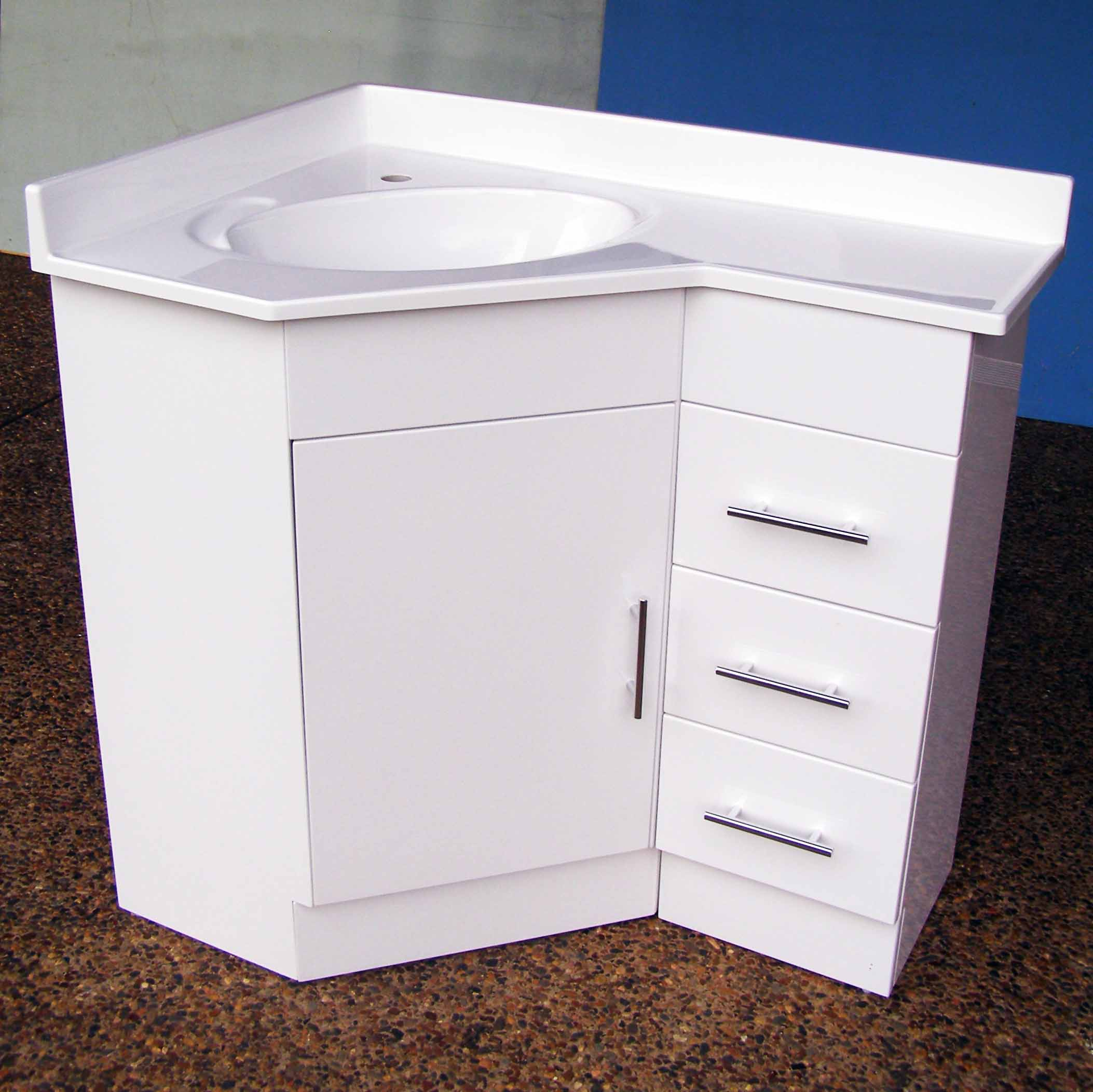 Corner Basin And Vanity Unit : Home ? Vanity ? Corner Vanity Units ? Corner Vanity 690R 610x910mm ...