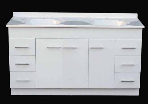 DAEDALUS WP1525mm High Gloss Bathroom Vanity Unit With ...