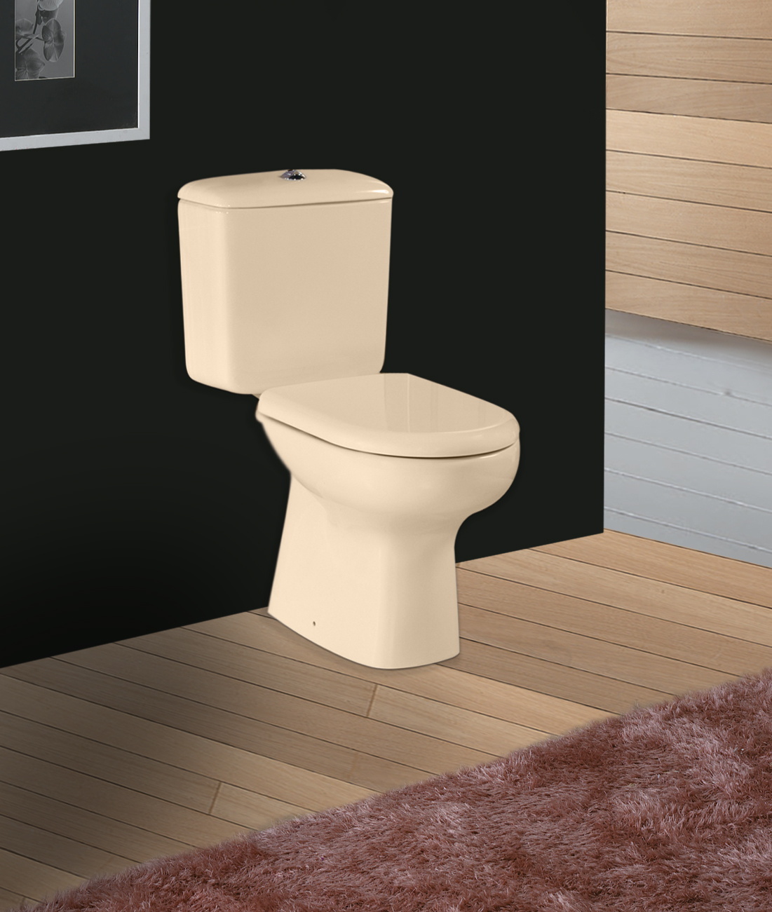 Liwa Ivory Color Toilet Suite Close Coupled Ivory Color