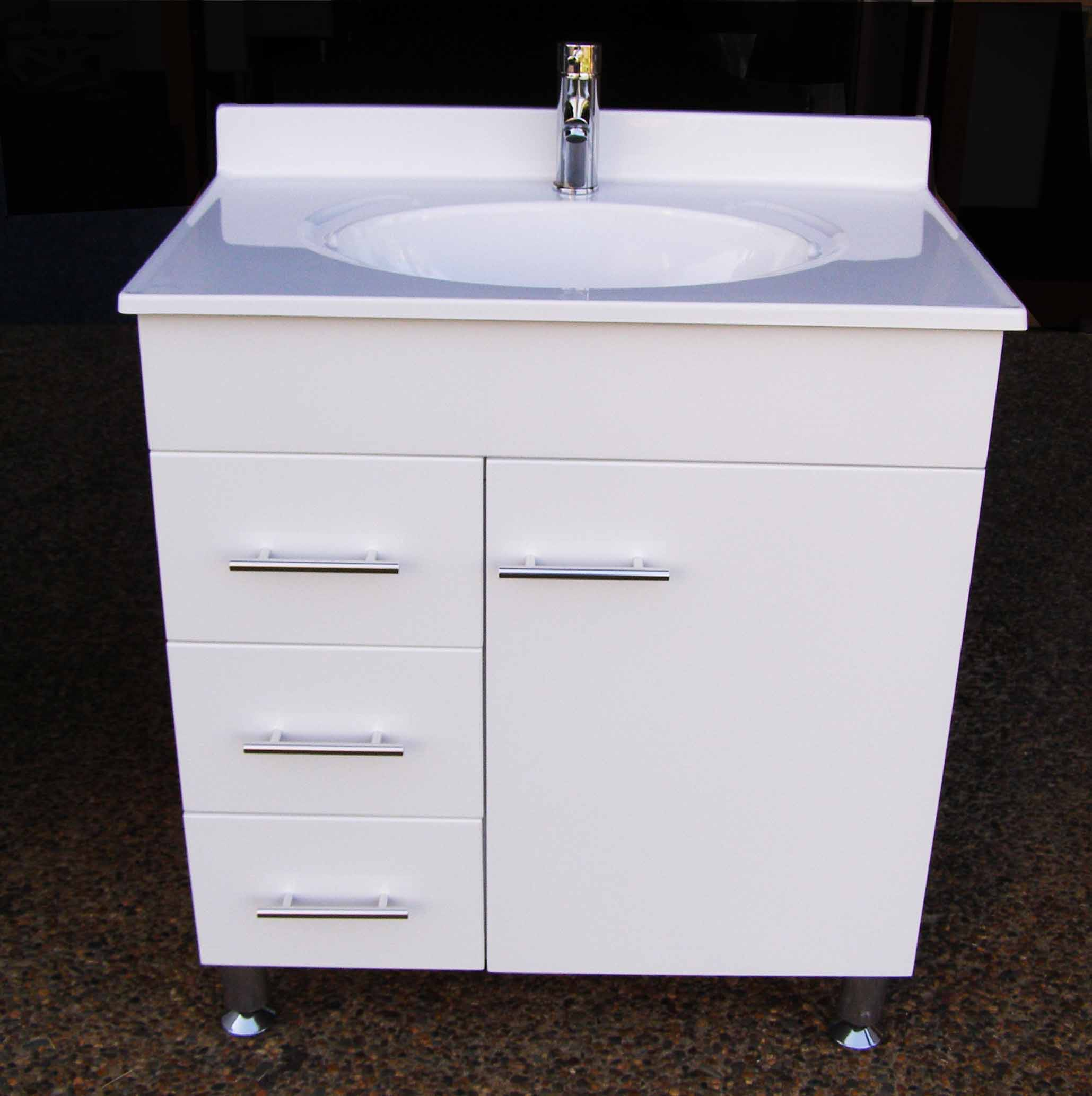 Daedalus Wpl750l 750mm Bathroom Vanity Unit With