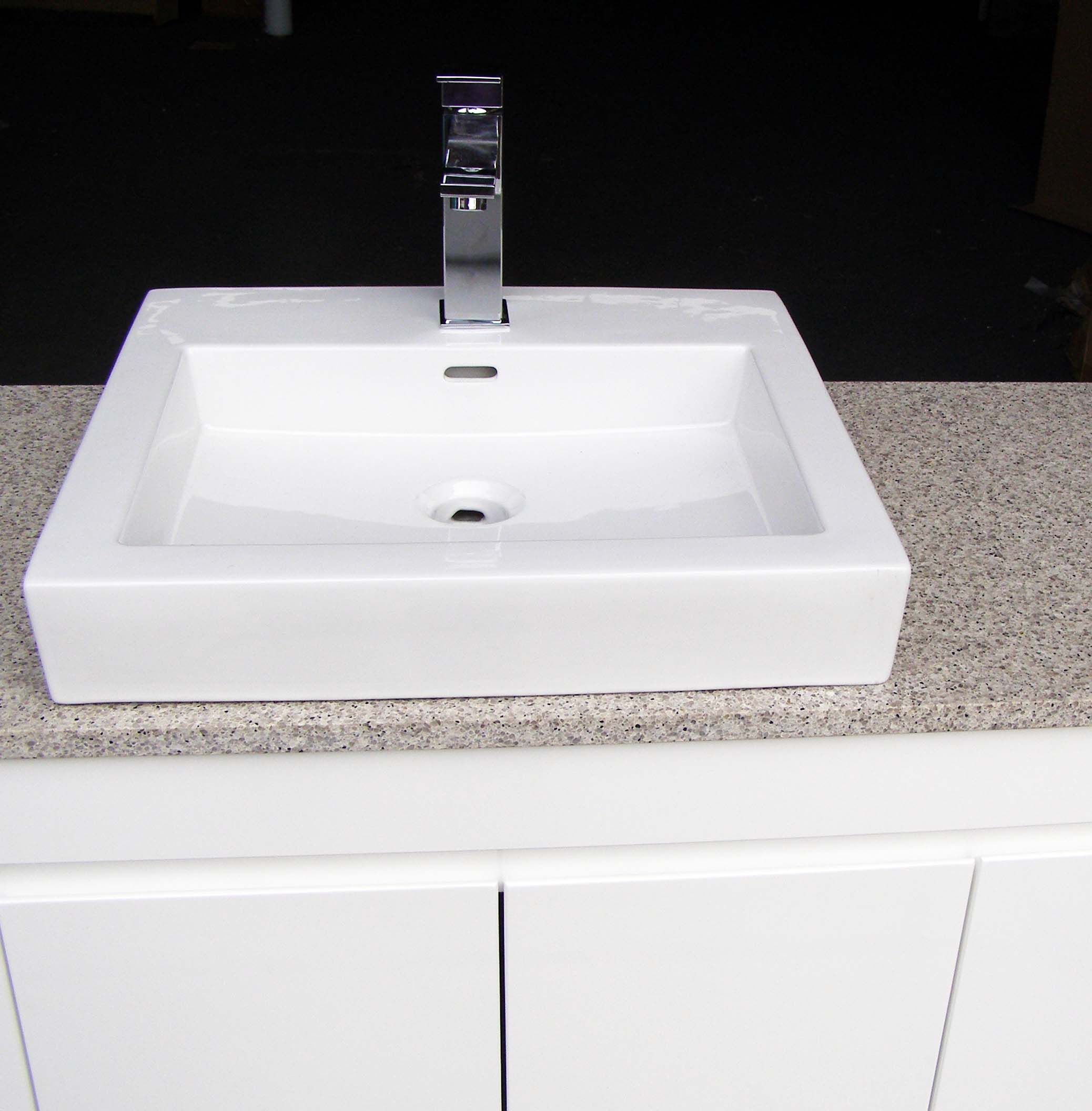 Bathroom vanity basin - Euro Fwpl1200sab 1200mm Gloss Bathroom Vanity Stone Top And Single Square Above Counter Ceramic Basin