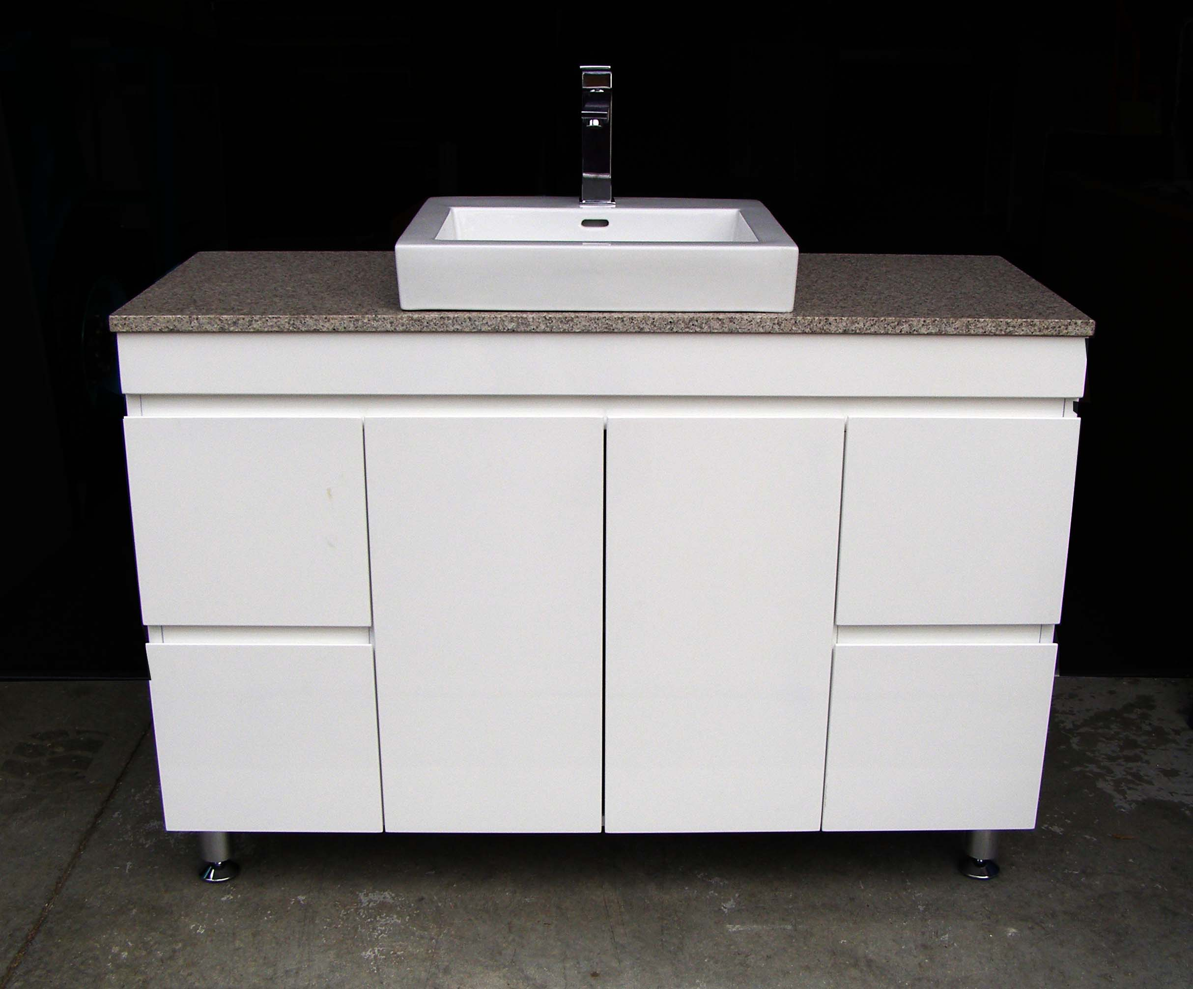 Vanity Tile Top : Euro fwpl sdr high gloss polyurethane vanity with stone