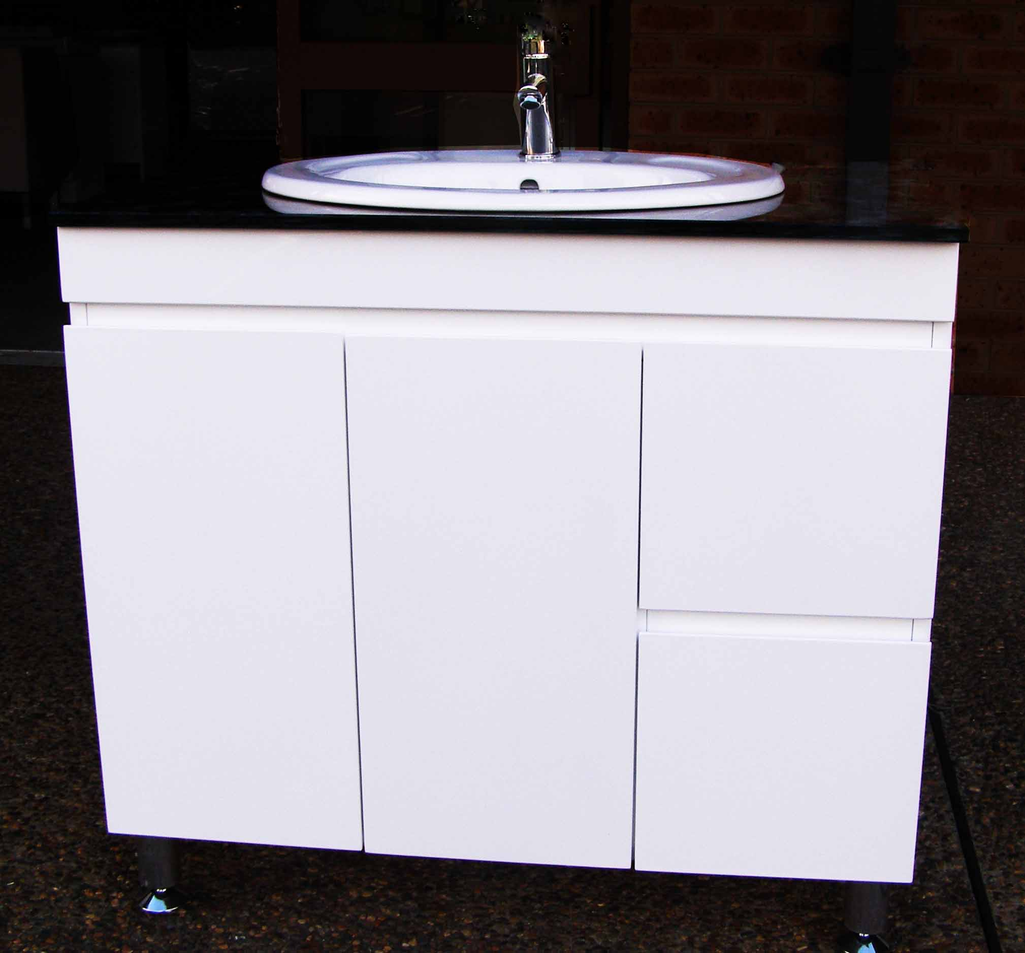 Euro Fwpr900sdr High Gloss Vanity With Stone Top And Oval