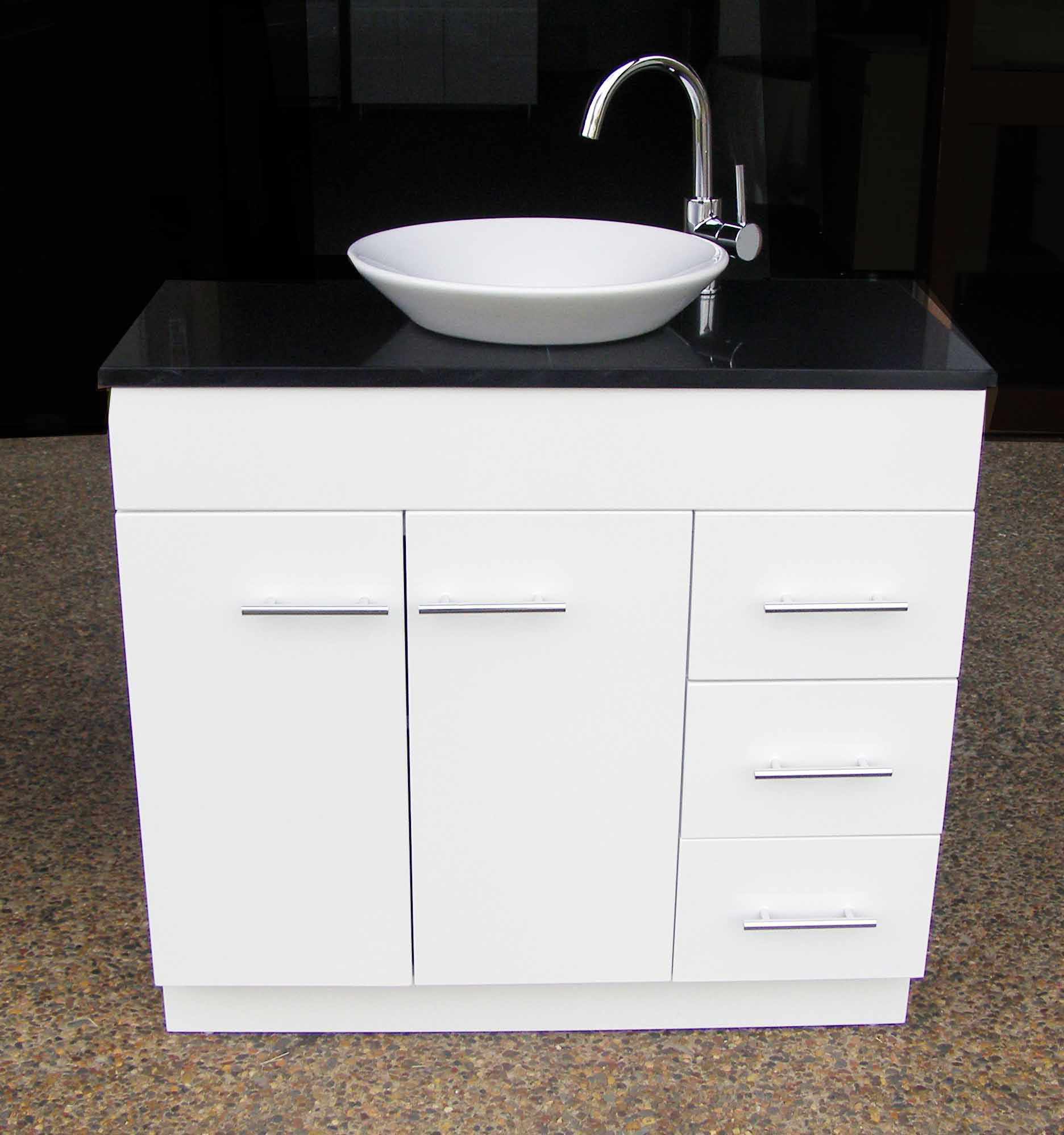 Euro Wp900sdr 900mm Polyurethane Vanity With Stone Top And