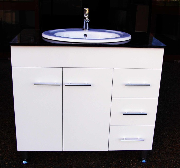 Euro Wpl900sdr 900mm Polyurethane Vanity With Stone Top