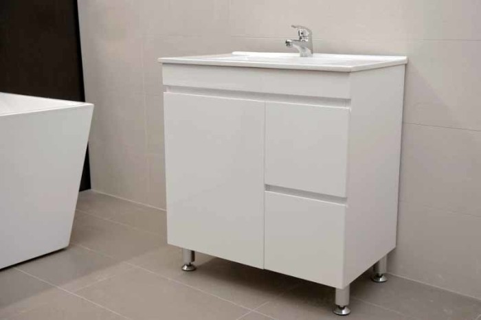 Artemis Fwpl750r 750mm Polyurethane Bathroom Vanity With