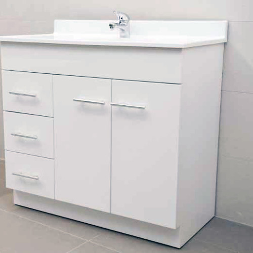 Simple  Bathroom Vanity Unit With Australian Made Acrylic Basin On Kick Board