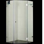 Euro Corner Frameless Shower Screen 1000x1000mm Diamond Shaped