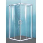 Euro Square Semi-Frame Shower Screen 1000x1000mm With Sliding Door