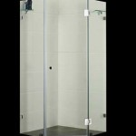 Euro Corner Frameless Shower Screen 1100 Diamond Shaped 1100x1100mm Shower Screen - Australian Standard.