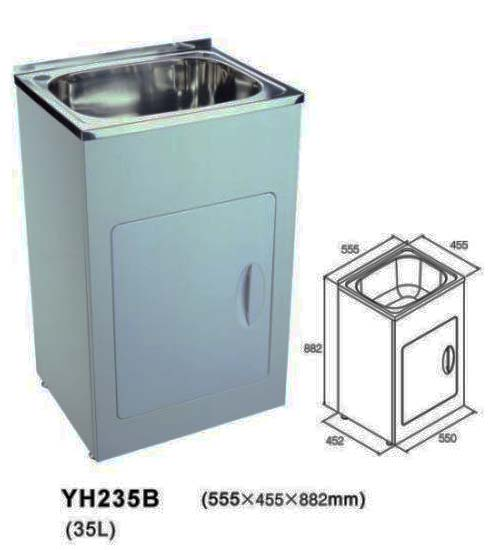 Laundry Tub Stainless Steel : Home ? Laundry Tubs ? 35 Litre Laundry Tub With Stainless Steel Bowl ...