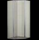Euro Corner Semi Framed Shower Screen 900 Square 900x900mm With Pivot Door