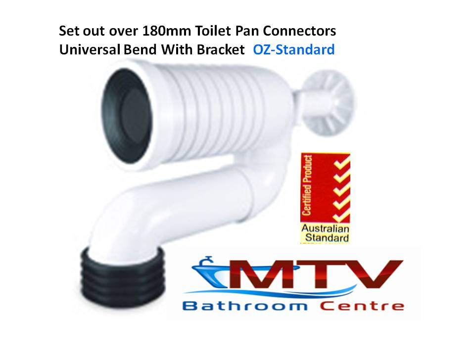 Toilet Pan Connectors With Adjustable Universal Bend For