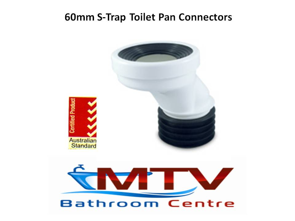 60mm Toilet Pan Connectors For Offset High Rise Flexi