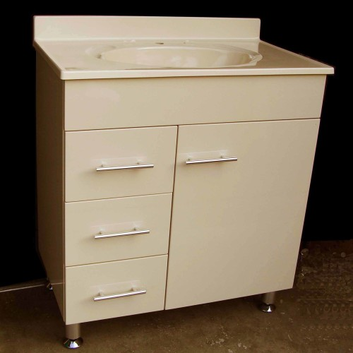 Daedalus Wpl750l 760x460mm Ivory Color Polyurethane Vanity Unit With Australian Made One Tap