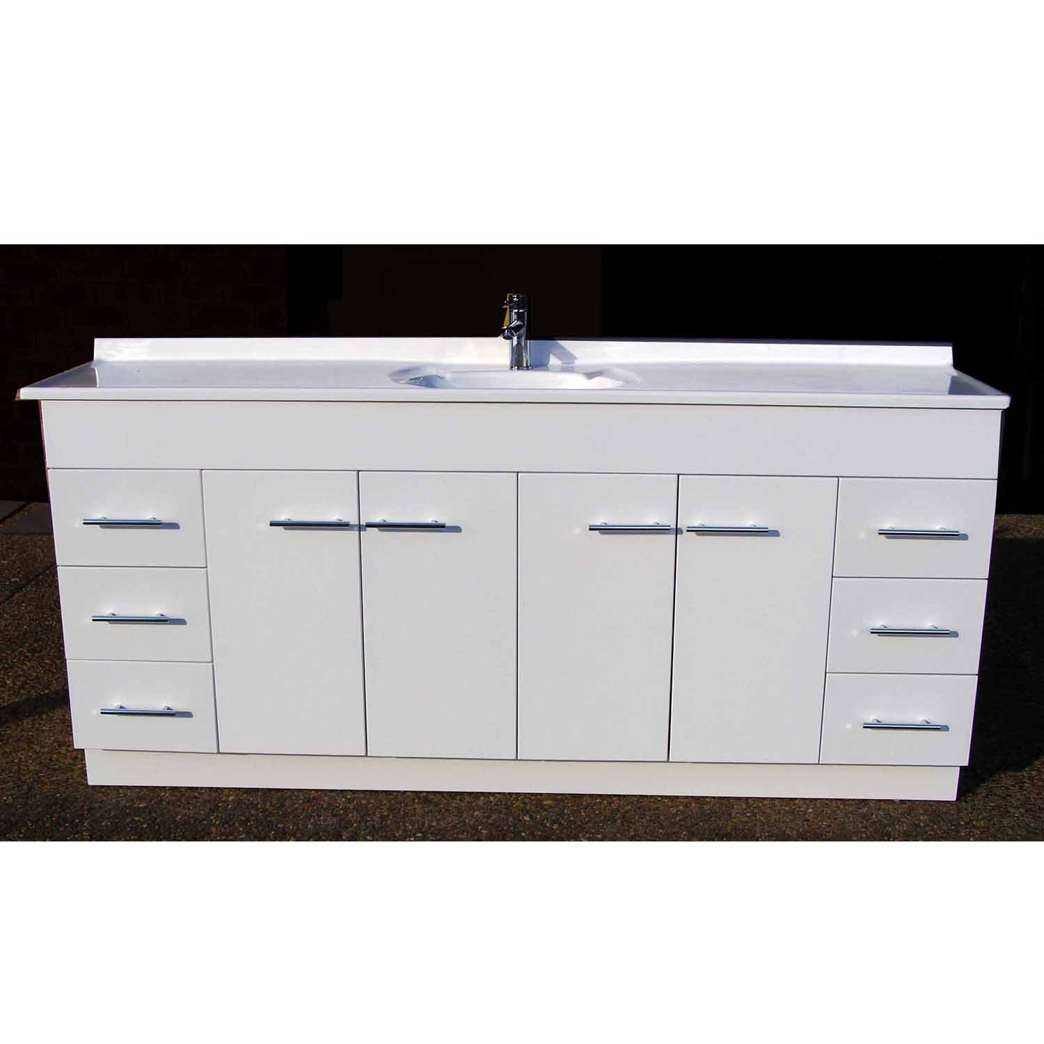 Daedalus Wp 1800mm Bathroom Vanity Unit High Gloss