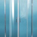 Paris ML-210: 900 900x900mm Oval Semi-Frame Shower Screen With Sliding Doors