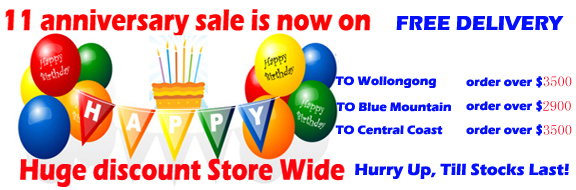 11 Year Anniversary Sale, Discounts on all Bathroom Products for through out all our Sydney stores.